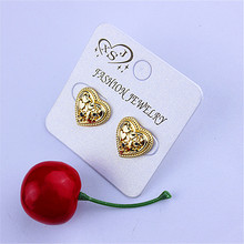 Gorgeous new popular European and American style ladies wholesale jewelry factory girls birthday party leisure (heart) earrings