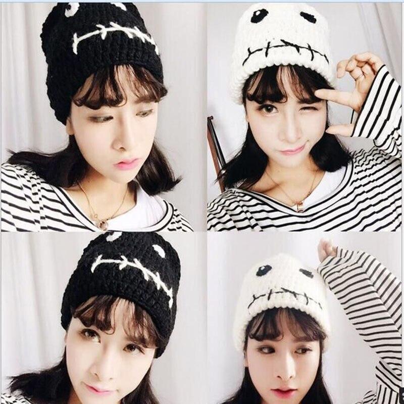 New Style Autumn Winter Women Korean version Hot Hats Knit Hat Beanie Personalized Funny Eyes Hedging Cap Fun Couple Sets Cap Îäåæäà è àêñåññóàðû<br><br><br>Aliexpress