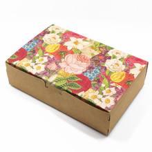 Brown 15Pcs/Lot 16.8*11.2*4.5cm Event Favor Pack Kraft Paper Drawer Packaging Box Printing Jewelry Kraft Drawer Package Boxes