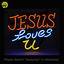 JESUE LOVSE U Neon Sign Real Glass Tube Neon Bulb Sign Beer Bar Sign lighted Lamp personal vintage Handcraft light up for sale(China)