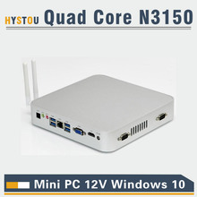 micro pc linux intel quad core n3150 hdmi vga ports mini pc 4k rj45 lan port 12V 15w low power mini pc 4gb linux mini pc ssd(China)