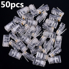 50pcs 8Pin RJ45 Modular Plugs Socket Network Ethernet Crystal Plug RJ45 Connector Adapter for Cat5/5e Cat6 Cable Plugs HY327*50