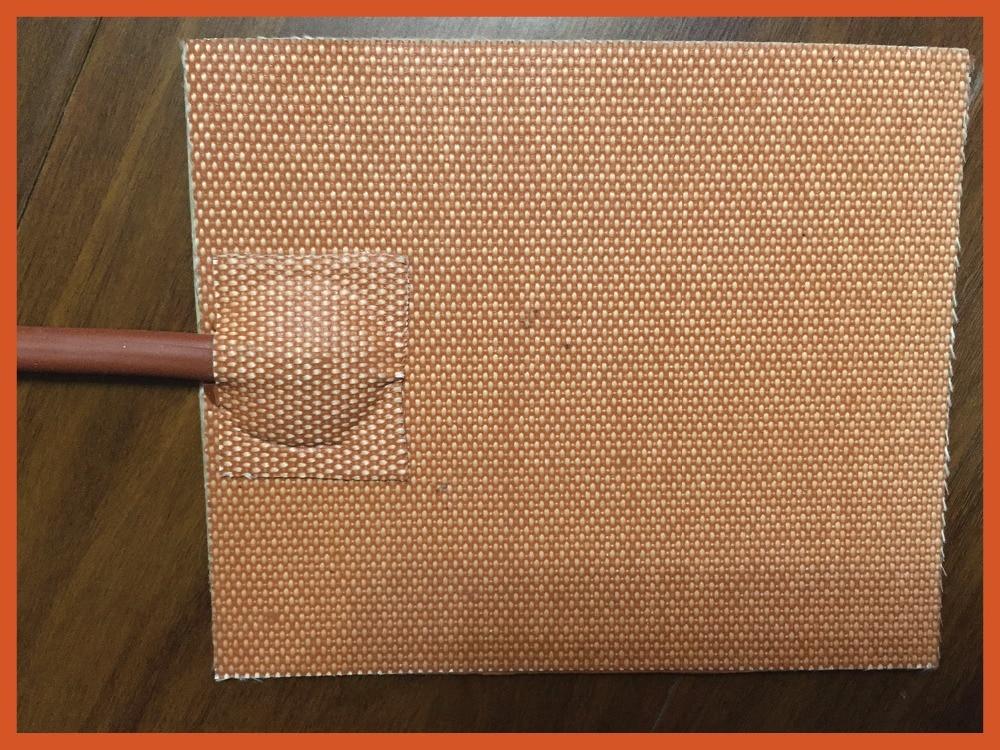 200 x 200 mm 120v 200 w silicone riscaldamento pad / riscaldamento con per stampante 3d letto flexible heater flexible elextric<br>