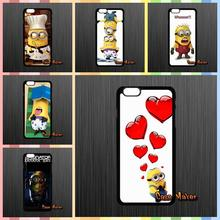 For Samsung Galaxy Note 2 3 4 5 7 S S2 S3 S4 S5 MINI S6 S7 edge Despicable Me Yellow Minion Plastic Back Covers Case