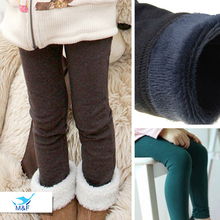 M&F 2-13Y Baby Girls Winter Leggings Thick Warm Fur Kids Long Icing Pants Trousers Children Cotton Leggings For Girls Teenagers