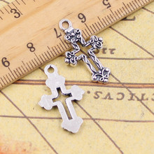 Buy 10pcs Charms hollow cross 26*16mm Tibetan Silver Plated Pendants Antique Jewelry Making DIY Handmade Craft for $1.25 in AliExpress store