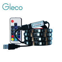 5V USB LED strip 5050 RGB flexible light 1M 2M IP65 Waterproof TV Background Lighting Strip with 17Key RF RGB Remote controller