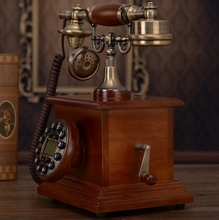 Fashion Solid wood telephone antique telephone landline phone backlit Caller ID