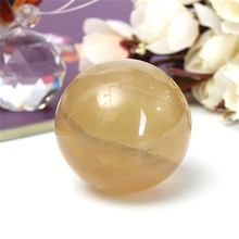 Lowest Price 40mm Luck Natural Citrine Quartz Crystal Sphere Ball Stone Healing Gemstone for Home Office Decoration Crafts Gift