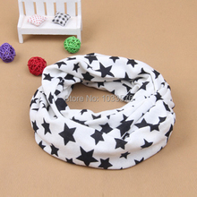 Soft Kids Baby Scarf Stars Print Scarves Neckerchief Shawl Girl Boy Snood
