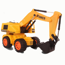 Electric Remote Wireless Excavators Remote Control Hydraulic Excavator Toy Car Children's RC Truck Toys Bulldozer Toy Gifts(China)