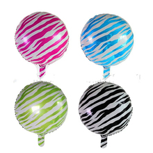 1pcs 18 inch Safari Animal Print Leopard zebra Spots Foil balloons,self sealing Helium balloon,kid's toy Globos.(China)