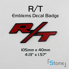 Free Shipping!! Chrome Red RT R/T Emblem for  Charger Ram 1500 Challenger Badge Decal Alloy 3D-- Wholesales
