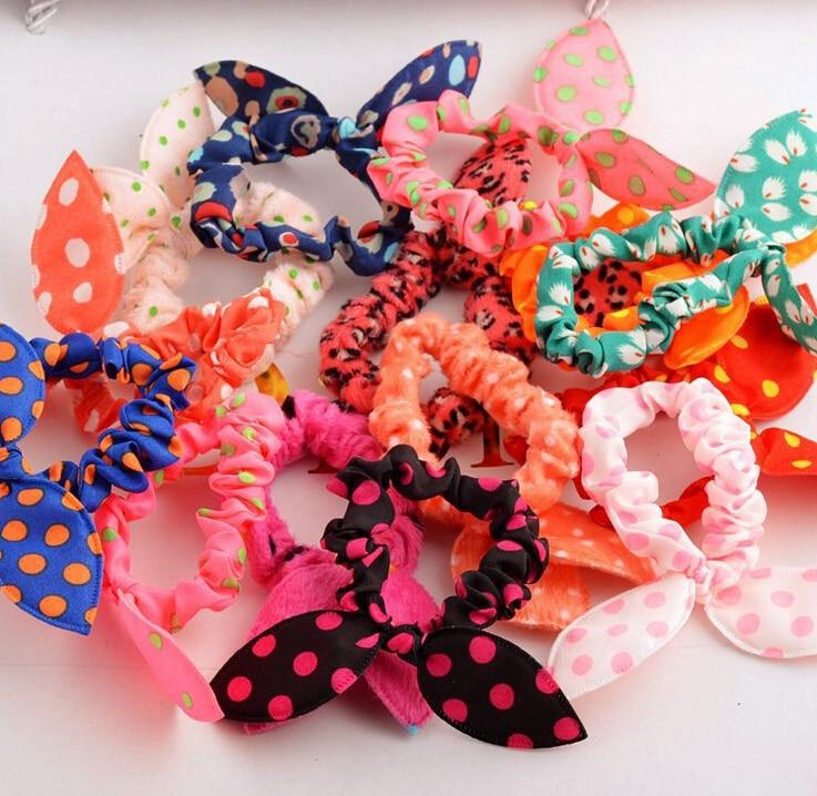 10 Pcs/lot Cute Bunny Baby Girl Flower Hair Clip Headbands Rabbit Ears Dot Headwear Elastic Hair Band Hair Rope<br><br>Aliexpress