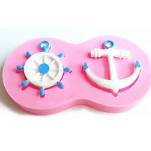 Ledifly 2017 New Arrival 1Pc Anchor Ship Wheel Cake Chocolate Decorating Mould Soft Silicone Fondant Mold Free Shippping(China)