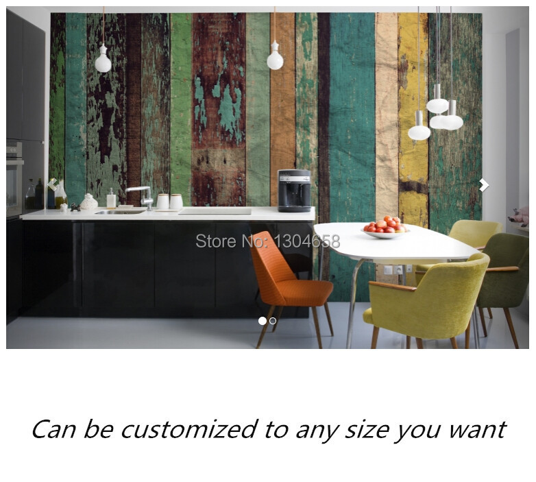 Free shipping custom murals Worn Coloured Wood Wall Mural bedroom, living room TV backdrop wallpaper<br><br>Aliexpress