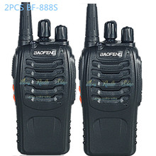 2Pcs walkie talkie Baofeng BF-888S two way radio handheld Dual Band 5W Handheld Pofung bf 888s 400-470MHz UHF VHF radio scanner