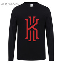 Kyrie Irving Long Sleeve T Shirt Men Fashion Cotton Irving Logo T Shirts Men O-neck T-shirts Tops Free Shipping
