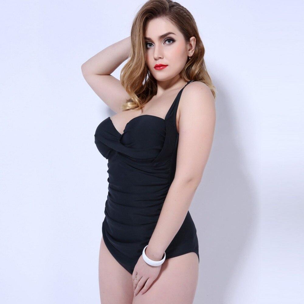 Brand Swimwear Women 2017 One Piece Black green Sexy Swimsuit One Piece Thong Push Up Swimwear Plus Size 5XL Professional Sport<br>