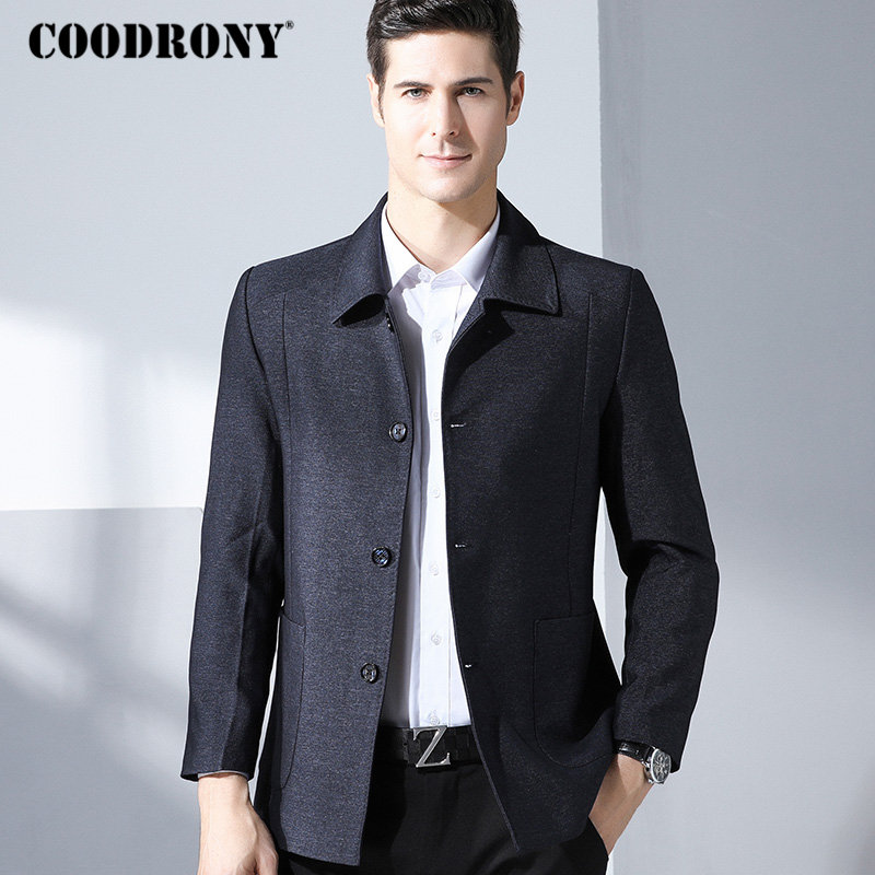COODRONY Business Casual Jacket Men Famous Brand Clothes 2018 Autumn Winter Mens Jackets And Coats Soft Warm Windbreaker 8816
