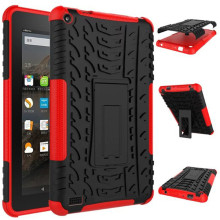 Rugged Stand Rubber Shockproof Hybrid Hard Case Cover For Kindle Fire HD 7 2015