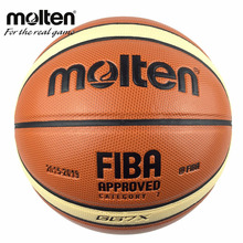 Hotest Official Size 7 Molten GG7/GG7X Men's Basketball Updated PU Leather Homme Basketball Ball With Basket Ball Net&Needle(China)