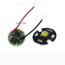 Cree XM-L XML T6 10W White LED Emitter Bead Light 16mm Base + DC 3.7V 2.5A T5 T6 LED Dimmer Driver For DIY Torch Flashlight