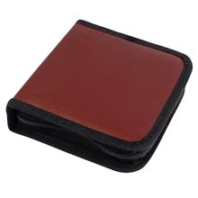 HFES New DVD Discs Faux Leather Organizer Holder CD VCD Case Storage Bag Red