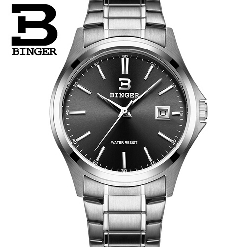 2017 Binger New Fashion Watch Men Elegant Casual Steel Mesh Quartz Watches Man Boutique Gift Geneva Wristwatch Silver<br>