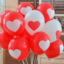 12 Inch 10pcs/lot Heart Balloons For Couples Heart Printed Balloon Baloon Decoracion De Cumpleanos Wedding Party Decor(China)