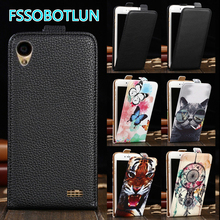 Factory Direct! High Quality Up and Down Flip PU Leather Cartoon Drawing Vertical Phone Case For ZTE Geek 2 LTE(China)