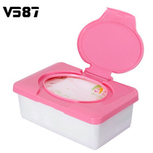 Automatic Plastic Wet Tissue Box Carro Real Tissue Case Press Pop-up Design Baby Wipes Case Household Practical Tissue Holder