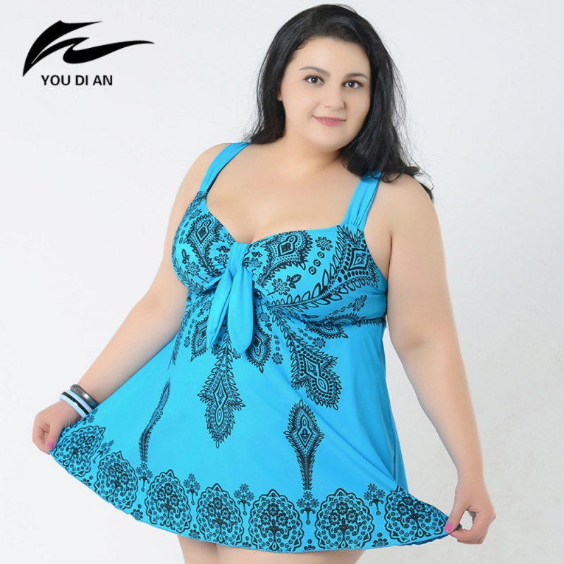 2018 Female Plus Size Swimwear Print Women Swimming Suit Sweet Bathing Suit Beach Suit for Women Sexy 10XL Bodysuit<br>