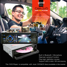 Car DVD Bluetooth V2.0 3 Inch High Definition Digital Screen Removable Panel 1DIN Car DVD Player without Camera Support SD Card
