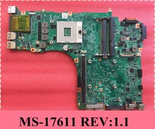 For MSI MS-17611 Laptop Motherboard Mainboard REV:1.1 DDR3 100% Tested