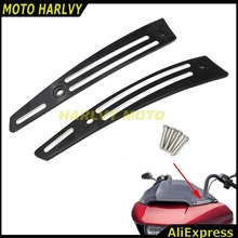 BLACK Windshield Side Trim For 2015 2016 2017 Harley Road Glide FLTRU FLTRX(China)