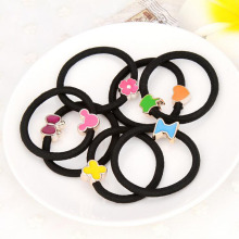 F08 10x Korean Colorful Bean Women Girl Bean Hair Elastic Headband Hairband Belt Gum for Hair Rope Accessories(China)