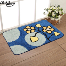 beibehang High quality mats foreign trade export handmade flowers mats bedroom living room suction bathroom mats mats 75 * 45(China)