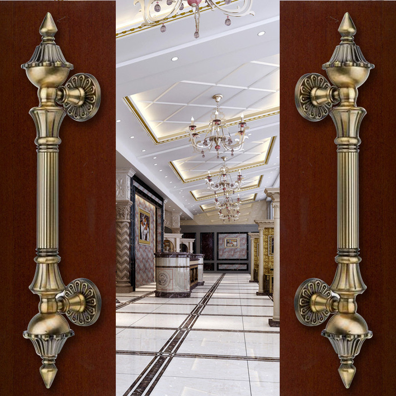 2 pcs free shipping Door shake handshandle european-style villa door shake handshandle archaize wooden door handle  DM001<br>