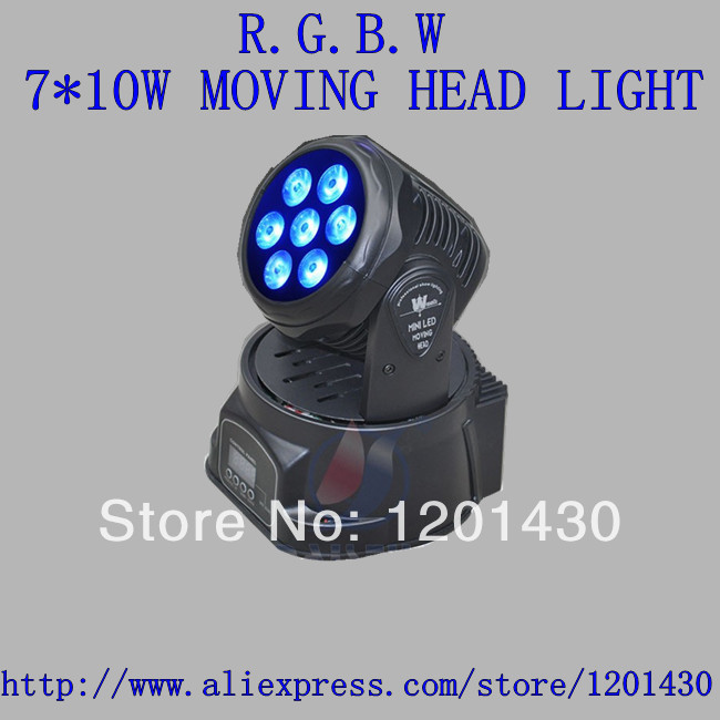New 7 * 10W RGBW Moving Head light, 4in1 stage lighting light staining dmx control dj equipment<br><br>Aliexpress