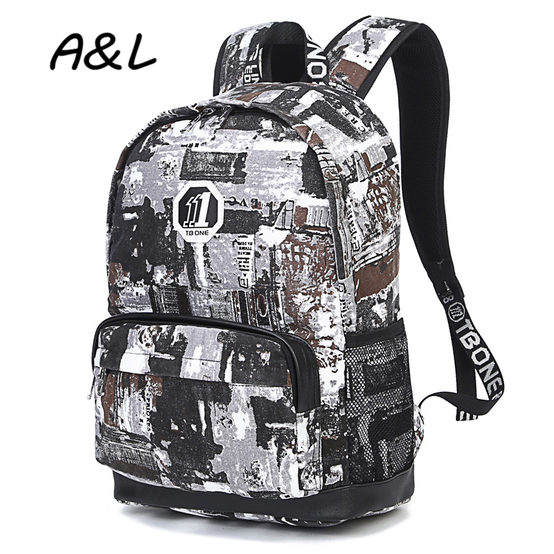 2017 Women backpack Students School Bag Fashion Leisure Men Travel Bag Teenager Girls &amp; Boys Personality Graffiti Backpack A0135<br><br>Aliexpress