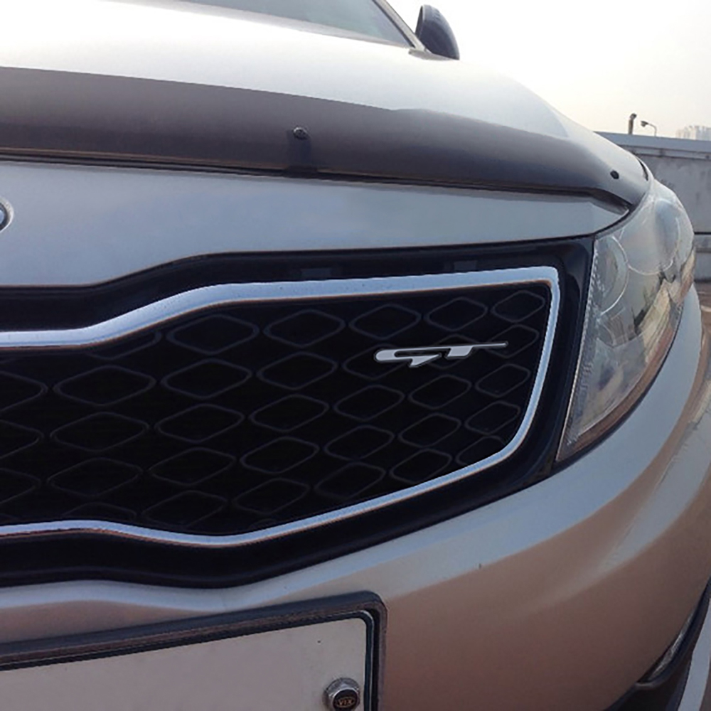 Color Name: GT Logo, Style: 20 Pieces Exterior Accessories 1-20PCS GT Line Logo Insignia Car Tuning Sticker Universal for KIA Optima K5 Stinger Proceed K3 K9 Front Grill Trunk Trim Decals