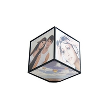 Automatic Rotating Cube Frame Fashion Simple Modern Home Decoration Six Photo Frame