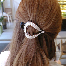 Heart Hairpin 2016 New Hair Accessories Womens Hair Claw Thick Hair Clips Ponytail Clamp for Girls Black/Brown Size L S 2302(China)