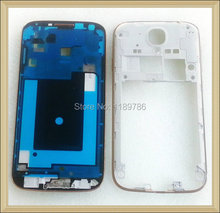 5Pcs/lot Gold Silver Housing Front Plate Bezel+Middle Frame Cover For Samsung Galaxy S4 GT-I9500 I9505 I337 M919 I545 L720 R970