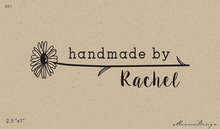 Custom Logo 2.5x1 inch  Personalized Rubber Stamp handmade by sunflower stamp