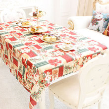 150*180cm New Year Christmas Home Kitchen Dining Table Decorations Print Creative Christmas Restaurant  Decoration