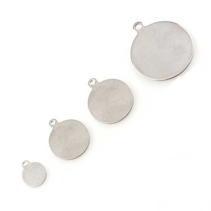10pcs Metal Flat Oval Blank Coin Stamping Charms Tags Necklace Pendants