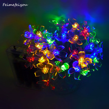 Feimefeiyou battery Operated 10FT 2M 20leds Creative Cherry Blossom LED String Light Fairy Light for Xmas New Year Valentine(China)