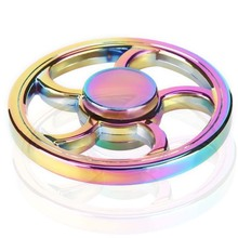Buy New Colorful Rainbow Fidget Toy Hand Spinner Rotation Time Long Autism ADHD Kids Adult Funny Anti Stress for $3.03 in AliExpress store